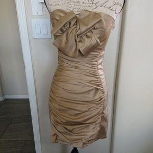 Jessica McClintock Gold Dress